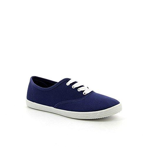 Ideal Shoes, Damen Sneaker Blau - Marine