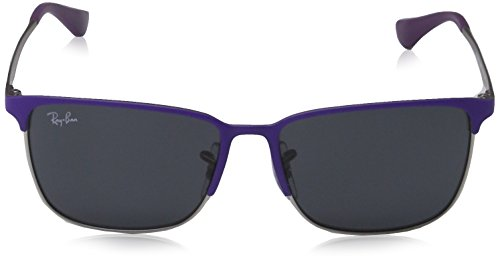 Ray-Ban Junior - Lunette de soleil RB9535S Enfant Top Matte Violet On Silver