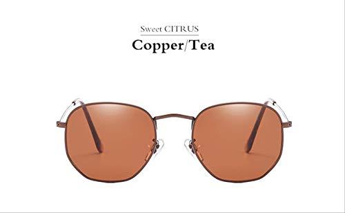 MJDL Sechseckige Sonnenbrille Männer Frauen Markendesigner Beschichtung Spiegel Sonnenbrille Vintage Driving 5