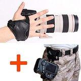 WITHLIN® Kit de fotografía - botón de hebilla de cinturón de cintura + cámara agarre muñeca banda correa para cámara SLR réflex digital (Canon Nikon Sony Pentax Olympus, etc.) - WITHLIN - amazon.es