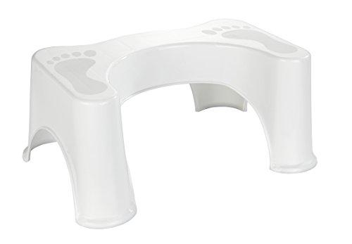 Wenko Secura Taburete para El, Blanco, 44.0 x 28.0 x 21.0 cm