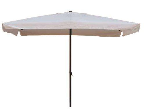 Ombrellone 2x3 mt x 2,4 h mt Rettangolare Struttura in acciaio Con manovella Copertura in poliestere 160 gr/m² colore bianco
