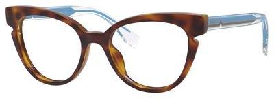 Fendi Montures de lunettes Pour Femme 0134 - N9D: Tortoise / Blue / Crystal