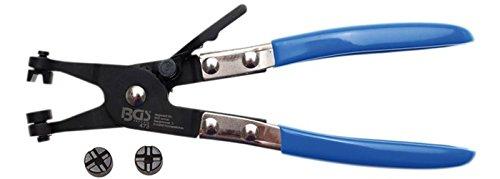 BGS 473 Zange für Schlauchklemmen Länge 200mm mit 2 Paar Backen