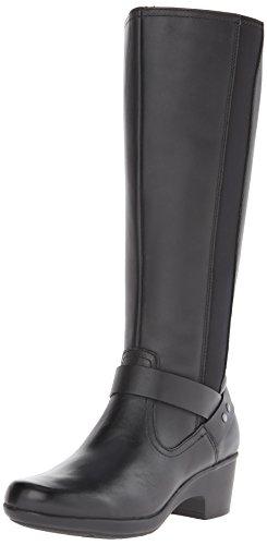 Clarks Malia Willo Riding Boot Black Leather