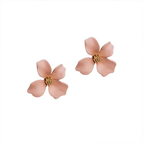 Homeofying Mini-Ohrstecker, klein, einfarbig, Candy Farbe, 2 Stück Rose