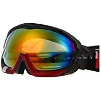 TZQ Doppel Anti-Fog Skibrille Doppelplatte Goggles Wandern Spiegel Sonnenbrille,A