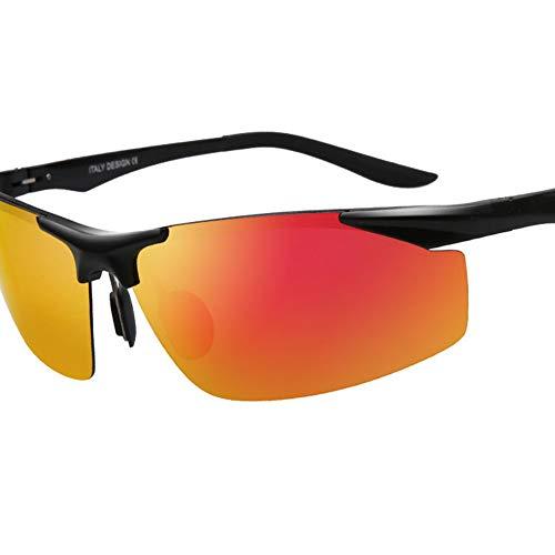 LXC Men ' S Sonnenbrillen, Cool Sonnenbrille polarisierte Aluminum Magnesium Colorful Classic Designer Sonnenbrillen,b