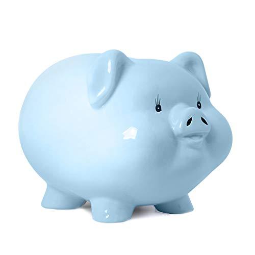 SISIZHANG Spardose Dekoration Keramik Sparschwein Wohnzimmer Schlafzimmer Dekoration Einfache Mode Schwein Spardose (Color : PINK, Size : 18CM*22CM*16CM) -