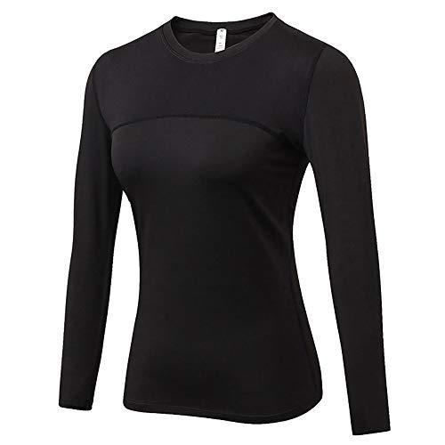 Jessie kidden #hzc2029 - maglia intima termica da donna, leggera, traspirante, facile da pulire, donna, black #2029, s