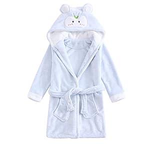 Bebé Albornoz con Capucha Niños Niñas Pijama Ropa de Dormir 4-5 Años, Ideal para regalos 16