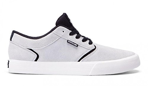Es Skateboard-schuhe (Supra Skateboard Schuhe Shredder Light Grey Black, Schuhgrösse:44.5)