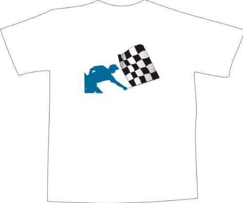 T-Shirt F1158 Schönes T-Shirt mit farbigem Brustaufdruck - Rennsport Schwarz