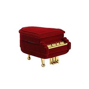 luoem Anillo Caja Piano Forma