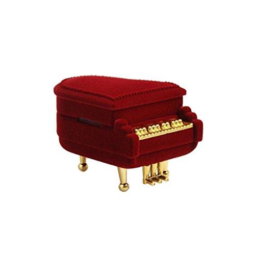 Luoem ring box pianoforte a forma di collana con pendente e anello matrimonio creativo regalo san valentino