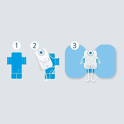 Bluetens Dispositivo de Juego inalámbrico para estimulador Muscular electrónico Unisex, Color Azul, Talla única