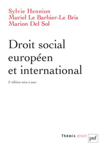 Droit social européen et international par Sylvie Hennion-Moreau