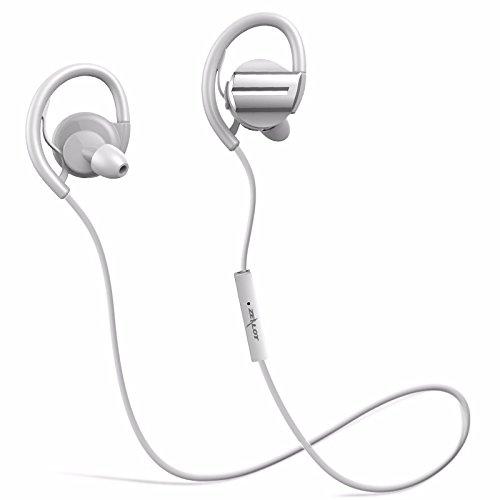 Auriculares Deportivos, ELEGIANT Auriculares Inalámbrico Bluetooth 4.1 in-ear Deporte Hi-Fi Estéreo Auriculares con ATP X Tecnología 6.0 Supresión de ruido CVC anulación integrado Micrófono Manos Libres 7 horas para iOS Iphone 6S 6S Plus 7 7S y Android Móviles Blanco
