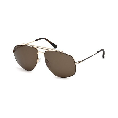 Tom Ford Unisex-Erwachsene FT0496 28J 59 Sonnenbrille, Gold (ORO Rosa Lucido/Roviex)