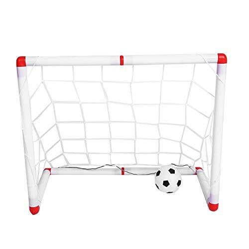 Zerodis Fußballtor Faltbarer Fußballtornetz Kunststoff Fußballtorrahmen mit Ball für Kindertraining