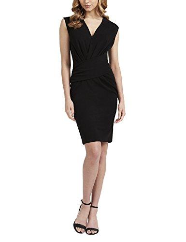 Fair-isle-pullover Mit V-ausschnitt (Lipsy Damen Ärmelloses Kleid Bodycon V Ausschnitt Details Vorne Normale Passform Schwarz 46)
