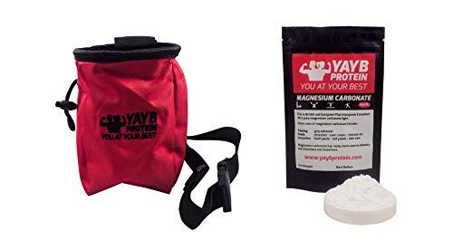YAYB Chalk Bag und Kreideball Nachfüllpack für Training, Klettern, Bouldern - Verstellbarer Taillengürtel und Reißverschlusstasche Singing Rock Chalk Bag
