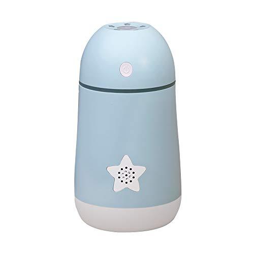 QSSQ Mini Aria Umidificatore Portable Viaggio Spray Umidificatore Creative USB Desktop Dormitorio Per Studenti Colorati Luce Lucky Star Umidificatore Personal Umidificatore,Blu