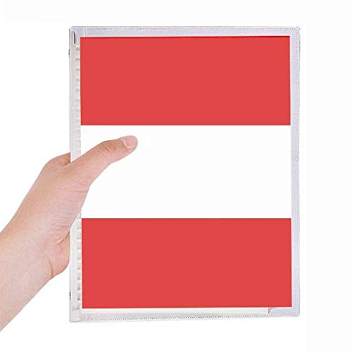 Ã-sterreich Nationalflag Europe Country Notebook Loose-leaf Spiral Refillable Journal