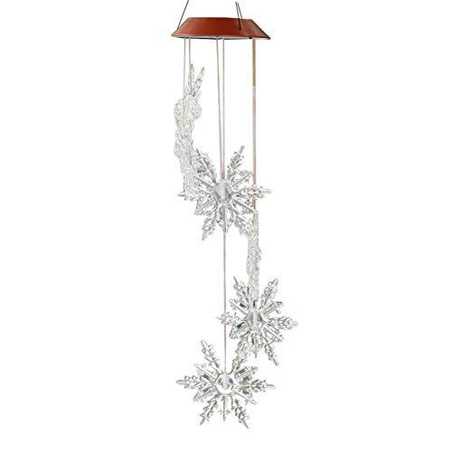 Diuspeed LED Solar Schneeflocke Muster Windspiel, Garten Dekoration Aeolian Bells   Garten > Dekoration > Windspiele   Diuspeed