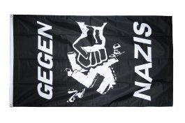 Flaggenfritze Flagge Gegen Nazis 90x150cm