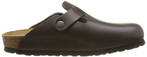 Birkenstock Boston Velours Art. Nr.  Unisex Clogs Braun EU 35 Schuhweite schmal, Chaussures mixte adulte Marron (Brun)