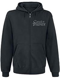 Game Of Thrones Juego de Tronos House Stark Sudadera Capucha con Cremallera Negro