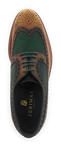 Zerimar Scarpe per Uomo realizzate in Pelle Fashion Design Rivestimento Interno della Pelle Pelle verde