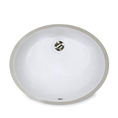 Nantucket Spülen um-15X 12-w 15Zoll von 12Zoll Oval Keramik Unterbau Vanity Waschbecken, Weiß