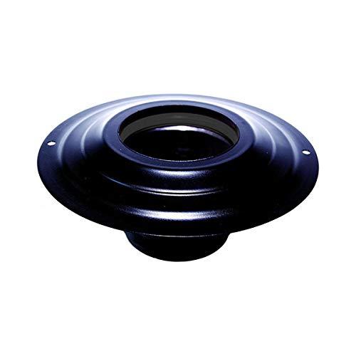 Vordach mit Sockel DN 100 mm d. Außen 230 mm. Edelstahl für einen Pelletofen oder Holz schwarz Rohr ce Made in Italy schwarz beschichtet - Vordach Zubehör