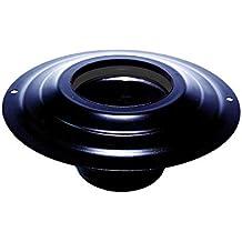 Marquesina con toma dn 100 mm d. externos 230 mm. negro-recubiertos de