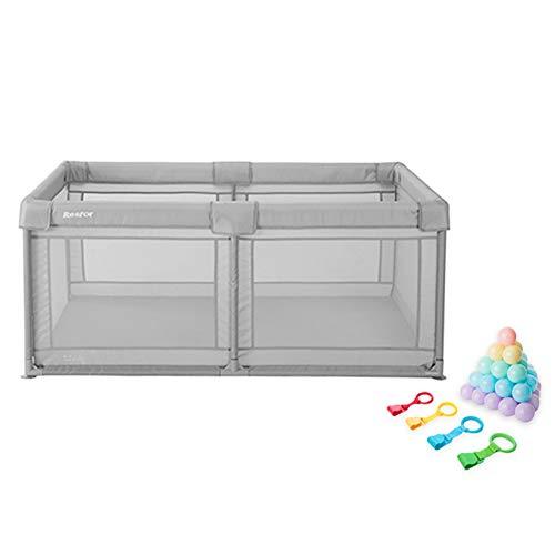 Sécurité Baby Play Yard avec balles, Parc Portable pour Tout-Petits Anti-Renversement avec Anneau de Traction, séparateur de Chambre d'enfants de 70 cm de Hauteur