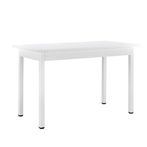 [en.casa] tavolo da pranzo bianco moderno offre 4 posti (120x60cm) tavolo da cuscina