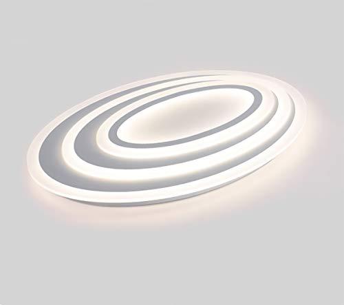 Acryl Oval (LED Deckenlampe, Deckenstrahler,Deckenleuchte-Panel, LED-Lampe, Wohnzimmer-Lampe,Schlafzimmer,Ovales,20 * 20cm,12W(Kalt Weiß))