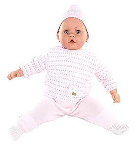 Magic Baby- MUÑECA Bebe Bobo NIÑA Pijama Punto Rosa (LAMAGIK 5100F)