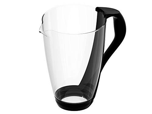 PearlCo Glas-Wasserfilter (schwarz) - Ersatzkanne ohne Zubehör
