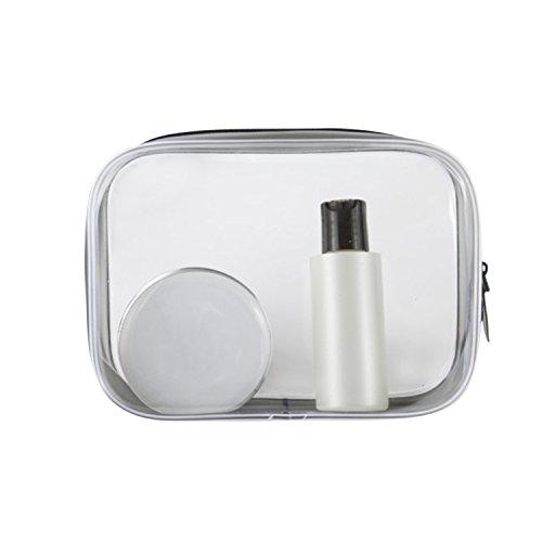 Boodtag Trousse de Toilette Transparent Etanche Sac Maquillage PVC Cosmétique pour Homme Femme Voyage Avion