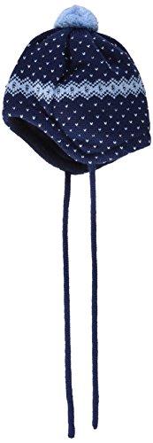 maximo Baby-Jungen Mütze mit Pompon und Bindeband, Mehrfarbig (Navy/Cerulean 4821), 39