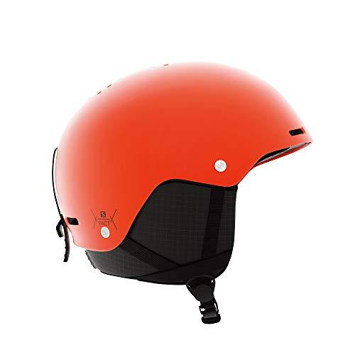 Salomon Pact Casco de esquí y Snowboard para niños, Carcasa ABS, Interior de Espuma EPS 4D, Circunferencia: 56-59 cm, Unisex, Naranja (Orange Pop), Talla JRM