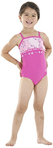 Zoggs Girl 's Heavenly Classic Back Badeanzug, Mädchen, Heavenly Classicback, rose Preisvergleich