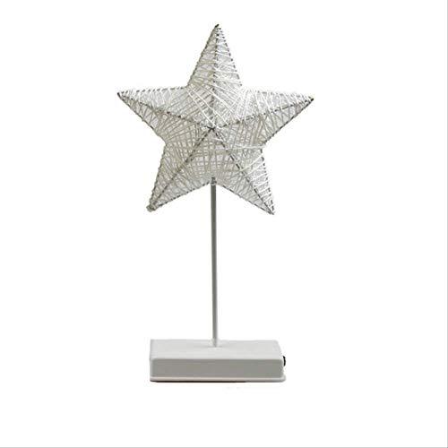 Kreative Nachtlicht LED Herz Stern Baum Form Gras Rattan gewebt Bank Nachttisch Lampe Geschenk Party Dekoration Lichter -