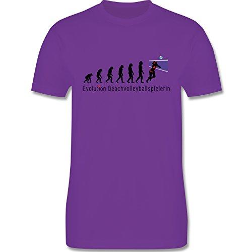 Evolution - Beachvolleyballspielerin Evolution - Herren Premium T-Shirt Lila