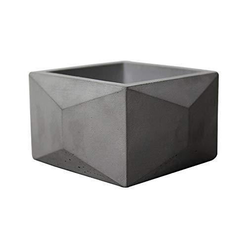 Nicole géométrique Pot de fleurs en silicone Moule à béton L0150