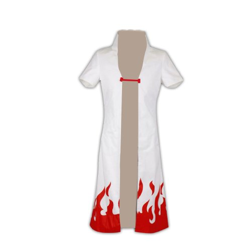 Dream2Reality japanische Anime Naruto Cosplay Kostuem -Yondaime Hokage 2nd Ver without Characters pint Kid Size - Yondaime Hokage Kostüm