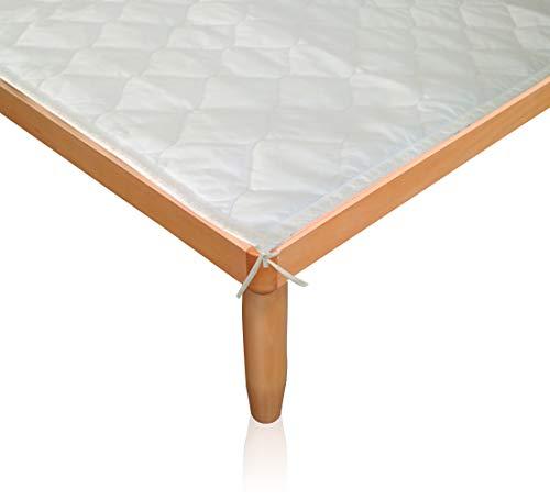 Morflex® - coprirete letto king size con laccetti - 200 x 160 in tessuto tnt trapuntato rombo - protect produzione artigianale italiana